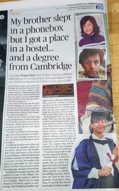 Evening Standard: 6 December 2016